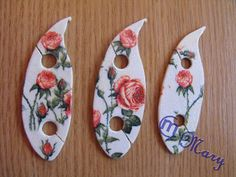 Mary handmade: Shuttles for tatting. I really like the idea of adding a hook for joining to these easy to make flat shuttles. And these ones are decorated so pretty, too!