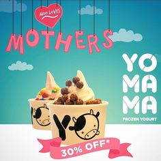 Few days left before Mother's Day! On May 8, bring your Mum to Yo Mama, tag @yomamafroyohk and enjoy 30% your second fro-yo! Happiness multiplies when you share it! #lovemoms #loveyomama #mother #mothersday #share #happy #moo #pretty #froyo #frozenyogurt #yogurt #guiltfree #healthy #fit #probiotics #yomama #toppings #makeyourown #hongkong #hkig #hkfood #hkfoodie #hkigfood #yum #foodporn #foodie #foodlover