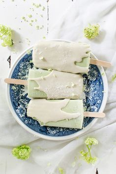 Matcha White Chocolate Creamsicles