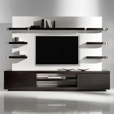 Modern tv wall unit flat screen mount living room projects to try wall decor wall design . Contemporary Tv Units, Modern Tv Wall Units, Post Contemporary, Living Room Wall Designs, Living Room Decor, Living Rooms, Decor Room, Tv Wanddekor, Modern Tv Cabinet