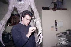Tom Woodruff, Jr. sculpts detail onto the vicious talons of his alter-ego, PUMPKINHEAD at Stan Winston Studio