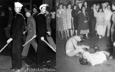 """Zoot Suit Riots, Los Angeles, June 3, 1943, Between young Mexican men known as pachucos, and American servicemen. On June 7 military authorities stepped in to handle the situtation. Navy and Army commanders ordered that the City of Los Angeles be declared off-limits to military personal. The official Navy position was that their sailors were acting in """"self-defense against the rowdy element."""""""