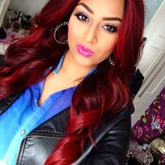 2015 Hairstyles, Unique Hairstyles, Pretty Hairstyles, Red Violet Hair, Hair 2015, Hair Creations, Hair Coloring, Short Styles, Violets