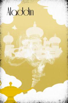 Disney Art Aladdin Poster movie poster disney poster 11x17. $19.00, via Etsy.