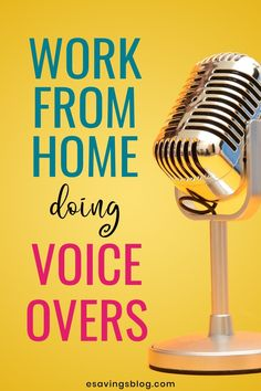 Become a Voice Over Artist!