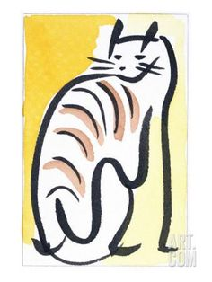 Cat XIV Giclee Print by Diana Ong at Art.com