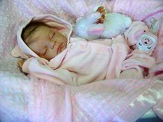 Beautiful Reborn Baby art doll Rebecca sculpt by Reva Schick Delta Dawn mohair