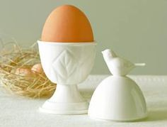 Martha Stewart Collection Serveware, Porcelain Bird Covered Egg Cup $9.99