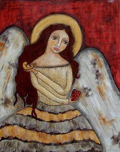 Angel Of Kindness Painting, Rain Ririn