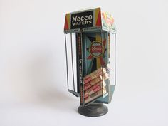 Vintage Necco Wafers Advertising Display Stand