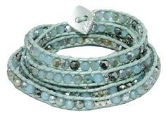 Sage Green Wrap Bracelet w/ Multi Color Stones; Beaded & Handmade - 34 Long Chicago Designer - Nakamol nakamol http://www.amazon.com/dp/B00UXO5TSG/ref=cm_sw_r_pi_dp_6p-jwb0PQW9XP