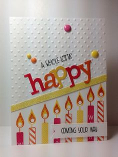 Whole Lotta' Happy: wplus9, Wishes Come True: PTI,  by beesmom - Cards and Paper Crafts at Splitcoaststampers