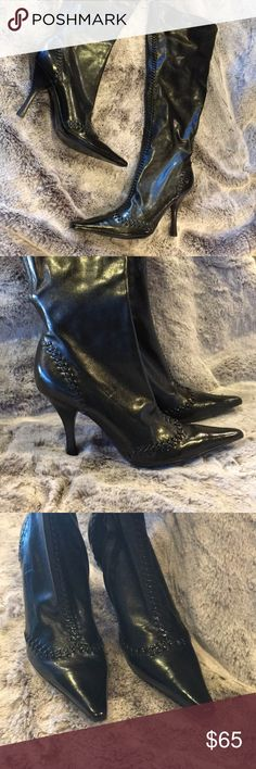 c5b0333d4bdb7 BCBGirls Gorgeous Black Knee High Heel Boots 7 BCBGirls Women Gorgeous  Black Knee High Boots High