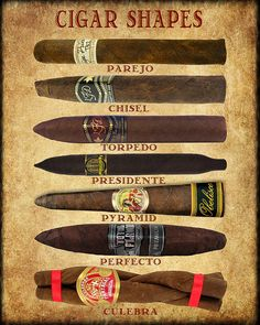 Cigar Art, Discounted Set of 3 Shape Size Color Cigar Poster Man Cave Decor Cigar Print Fathers Day is part of Cigars A set of three charts showing traditional shapes, sizes and wrapper color - Cigars And Whiskey, Good Cigars, Pipes And Cigars, Cigar Art, Cigar Room, Cigar Boxes, Cigar Smoking, Colorful Backgrounds, Fine Art Prints