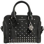 Alexander Mcqueen Women Mini Padlock Studded Leather Top Handle
