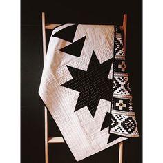 modern baby quilt.