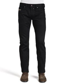 Safado+Straight+Jeans,+Black++by+Diesel+at+Neiman+Marcus.