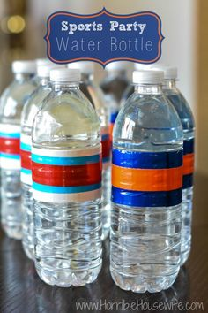 Duct tape water bottles for sports parties