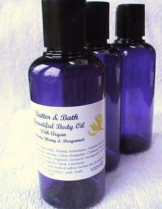 Beautiful Body Oil with Argan & Pure Essential by ButterandBath, £14.99