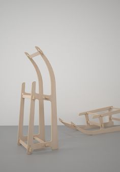 Study of coat rack - sledges in summer.