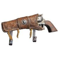 Cowboy 6 Shooter Iron Metal Gun Pistol w Western Star Holster Coat Rack Hat Hook Hat Hooks, Towel Hooks, Old West Decor, Western Wall Decor, Key And Letter Holder, Home Decor Hooks, Pistol Holster, Holsters, Industrial Hardware