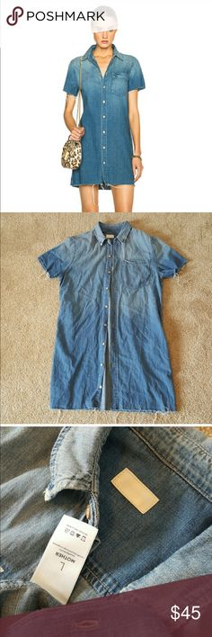 Mother Denim Frenchie Chambray shirt dress, size L Mother Denim Frenchie Chambray shirt dress, size L. Gently used but in great condition. Sold out style! MOTHER Dresses Mini