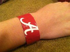 Bracelet Duck Tape Crafts, Football Fashion, Silver Rings, Bracelet, Jewelry, Jewlery, Jewerly, Wristlets, Schmuck