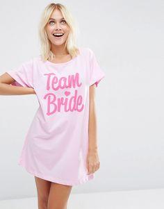 Image 1 ofASOS BRIDAL Team Bride Oversized Tee