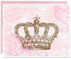 Pretty crown invitation