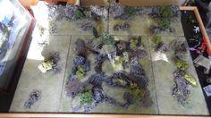 Wargame Terrain 15 28mm Warhammer 40K Fantasy D D RPG Warmachine 4 Square Feet | eBay