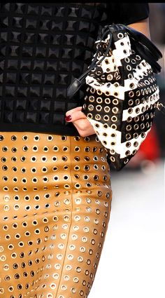 Leather skirts are so hot for fall! Burberry