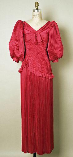 "Evening Dress, Emanuel Ungaro (French, born 1933): spring/summer 1983, French, silk.    Marking: [label] ""Emmanuel Ungaro Couture/Paris"""