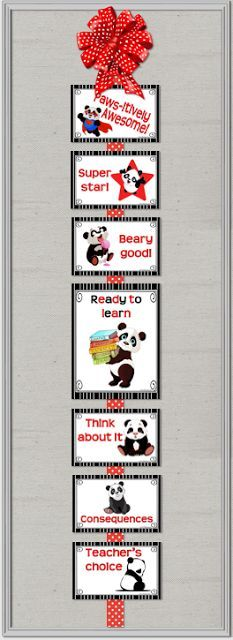 It's About Time, Teachers!: Create Classroom Panda-monium with this behavior clip chart.