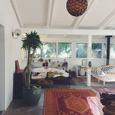 i want my room like this..bohemian/ clean white/splash of color everywhere