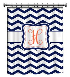our new monogram shower curtains call bailey to order