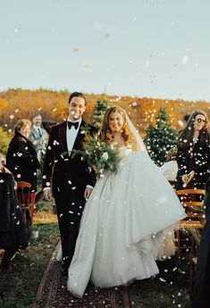 Wedding Exits, Farm Wedding, Wedding Bells, Wedding Ceremony, Dream Wedding, Christmas Tree Farm, Christmas Wedding, Wedding Trends, Wedding Styles