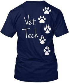 Vet Tech Navy T-Shirt Back