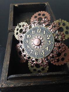 Steampunk Clock Jewelry Steampunk Gear by ArcanumByAerrowae