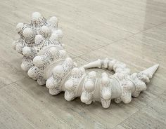 white - metal sculpture - Bronwyn Oliver