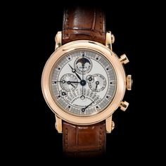 Franck Muller 18K Rose Gold Perpetual Calendar Moonphase Chronograph Automatic