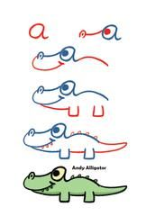 Drawing Super Cute Baby Animals Using Lowercase Letters