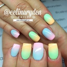 NAILPROdigy Daily Nail Art Designs: Perfect spring pastels by @celinaryden!