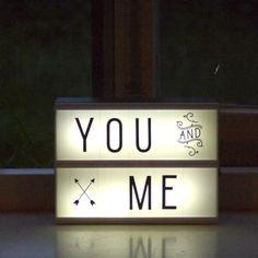 A little lovely company, Lightbox lampe - Shop her | LirumLarumLeg