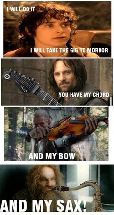 I love the pic of Legolas with the violin!lol,love it,the violin is my instrument,love you,legolas! Jrr Tolkien, Tolkien Books, Martin Freeman, Funny Quotes, Funny Memes, Hilarious, Lotr Quotes, Sherlock Quotes, Movie Memes