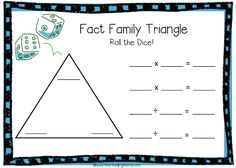 Fact Family Triangle Game Board for Multiplication and Division Fact Family Triangle Game Board zur Multiplikation und Division Math Addition, Addition And Subtraction, Triangle Math, Division, Teaching Multiplication, Multiplication Tables, Multiplication Strategies, 1st Grade Math, Third Grade