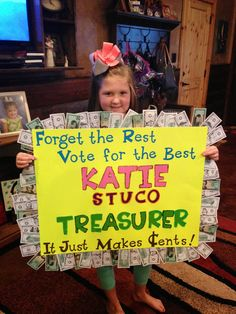 Watch Me Grow: Student Council Treasurer Campaign