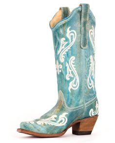 Beautiful Turquoise boots for spring. http://www.countryoutfitter.com/products/27505-womens-turquoise-cortez-cream-fleur-de-lis-boot-r1973 #cowgirlboots