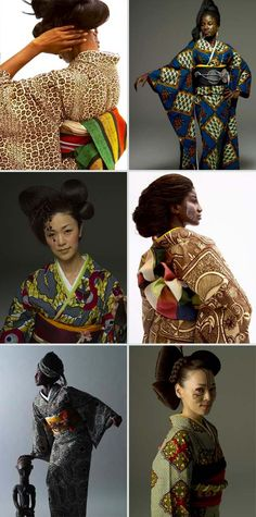 african kimono by serge mouangue...Absolutely love African inspired Kimonos