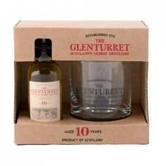 The Glenturret 10yo 5cl & Glass A miniature of The Glenturret single malt whisky with a The Glenturret whisky glass.
