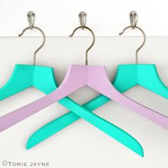 Spray painted hangers by toriejayne, using Montana GOLD spray paint